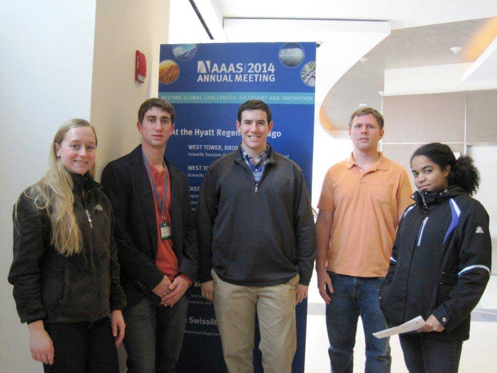Lehigh University Science and Environmental Writing Program - students at the AAAS 2014 Annual Meeting