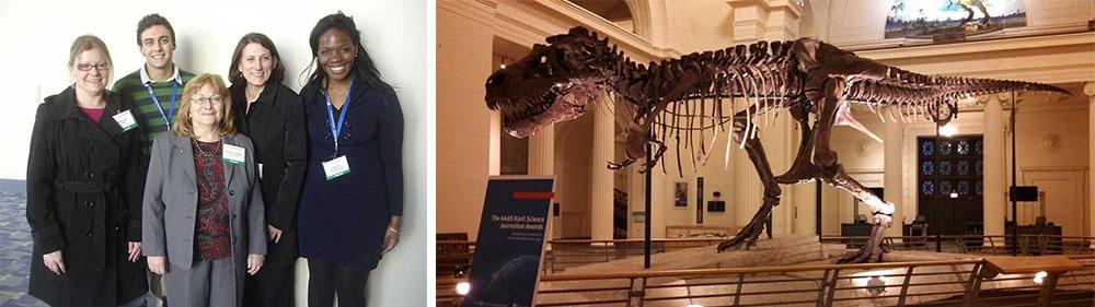 Lehigh University Science and Environmental Writing Program - Slider montage, dinosaur