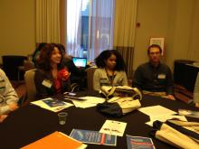 Lehigh University Science and Environmental Writing students in a discussion