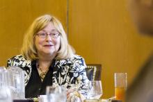 Lehigh University Science and Environmental Writing - Sharon Friedman at the 2014 Farewell Luncheon