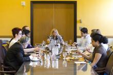Lehigh University Science and Environmental Writing - students and professors at the Farewell Luncheon