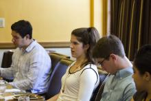 Lehigh University Science and Environmental Writing - students at the Farewell Luncheon
