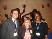Lehigh University Science and Environmental Writing students with director Sharon Friedman (center) at a conference